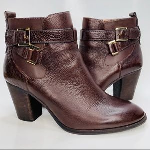 LOUISE ET CIE Brown Leather Lo-Vianne Ankle Boot 8